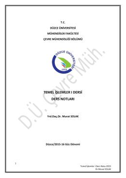 Paket I - Çevre Mühendisliği