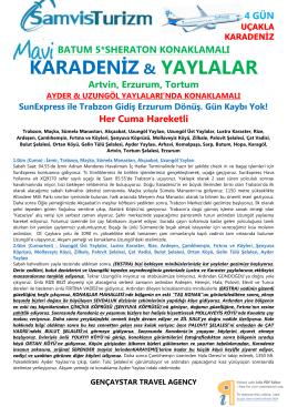KARADENİZ & YAYLALAR