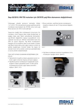 Sayı 02/2015: VW-TDI motorları için OX787D