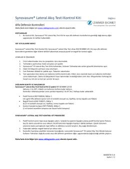 Synovasure® Lateral Akış Testi Kontrol Kiti