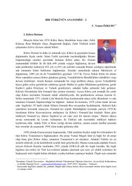 BİR TÜRKÜNÜN ANATOMİSİ – 2 C. Yunus ÖZKURT 2