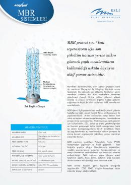 MBR Sistemleri - Esli Endüstriyel Ürünler