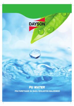 Dayson PU Water.indd - Dayson Group`a Hoşgeldiniz