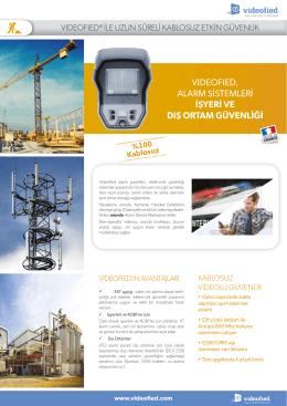 vıdeofıed, alarm sistemleri işyeri ve dış ortam güvenliği
