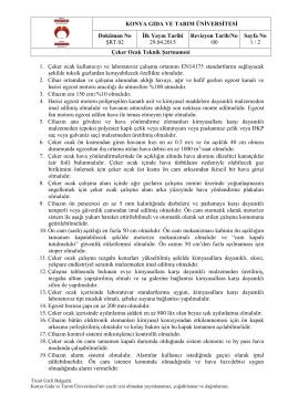 KONYA GIDA VE TARIM ÜNİVERSİTESİ Doküman No ŞRT.02 İlk