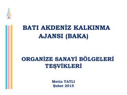 organize sanayi bölgeleri teşvikleri (şubat 2015)