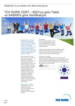 BSCI`ya göre Tetkik ve SA8000`e göre Sertifikasyon