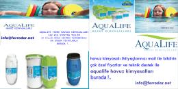 aqualife havuz kimyasalları burada !..