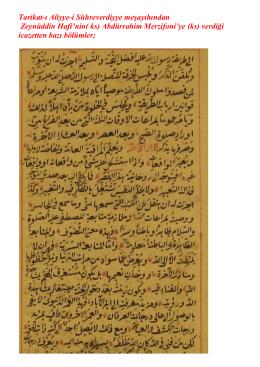 Abdürrahim Merzifoni`ye (ks)