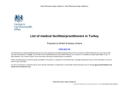 Turkey - List of Medical Practitioners