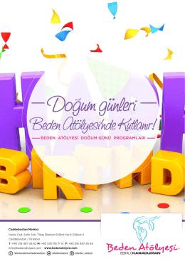Doğum günü detayları için PDF dosyasını
