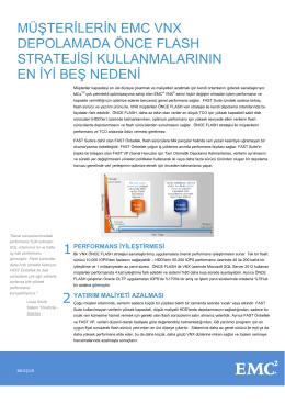 H10837.2 Müşterilerin EMC VNX Depolamada ÖNCE
