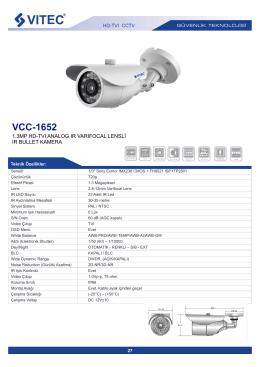 Vitec HD-TVI CCTV Ürün Kataloğu