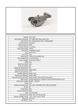 Model SOC-L710R Görüntüleme Sensörü 1/3`` SONY Effio Super