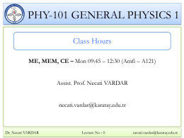 PHY-101 GENERAL PHYSICS 1