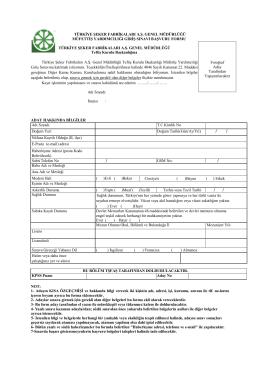 Müfettiş Yardımcılığı Giriş Sınavı Başvuru Formu
