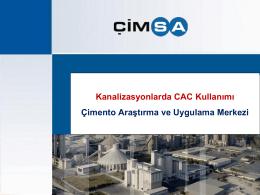 Kanalizasyonlarda CAC Kullanımı