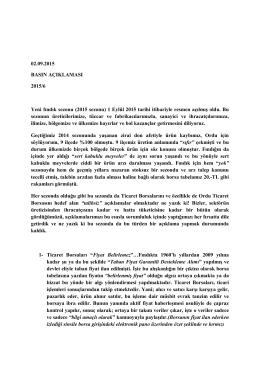 (02.09.2015) 6 - Ordu Ticaret Borsası