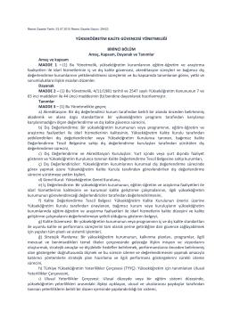 31.07.2015 Bologna Eşgüdüm Komisyonu üye değişikliği yazısı