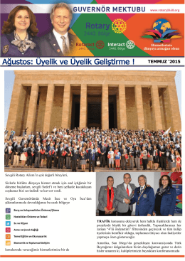 TEMMUZ `2015 - Rotary 2440. Bölge