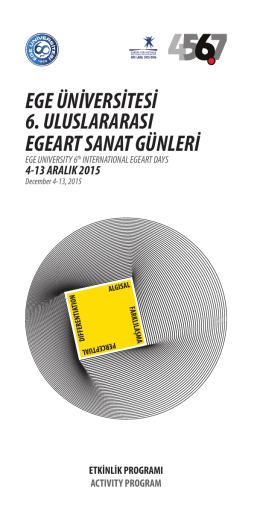 Program - EgeART - Ege Üniversitesi