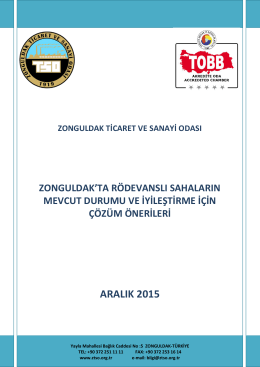 Zonguldak`ta Rödevanslı Sahaların Mevcut Durumu Ve İyileştirme
