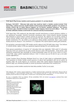 NGK Spark Plug Europe, lambda sensörü gamını genişletti: 41 yeni