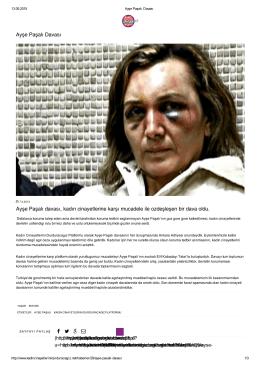 Ayşe Paşalı Davası Ayşe Paşalı davası, kadın cinayetlerine karşı