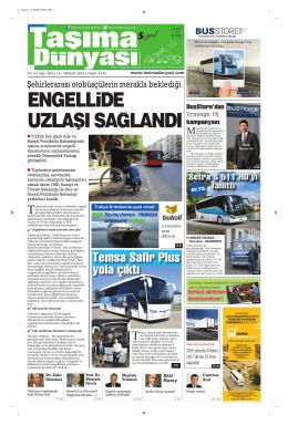 Taşıma Dünyası Gazetesi-203 PDF 12 Ekim 2015 tarihli sayısını