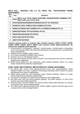 beta hcg , dheas04, fsh, lh, e2, prog, prl, testosteron teknik