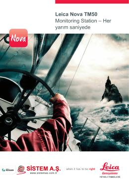 Leica Nova TM50 Monitoring Station – Her yarım saniyede
