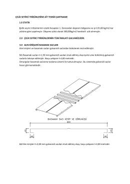 ÇELİK SEYİRCİ TRİBÜNLERİNE AİT TEKNİK ŞARTNAME 1.0