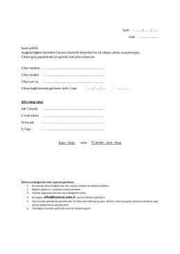 Şifre İstek Formu - Cenova Güvenlik Sistemleri