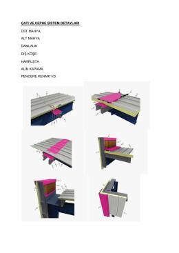 çatı ve cephe sistem detayları
