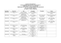 Tıbbi Dokümantasyonluk ve Sekreterlik Programı I. Sınıf I. ve II