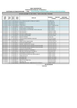 Göster - Teknik Bilimler MYO