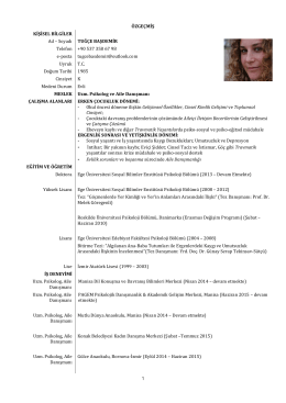 Uzm.Psikolog & Aile Danışmanı Tuğçe