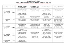 2015-2016 Güz Yarıyılı UZAKTAN EĞİTİM PROGRAMLARI ARA