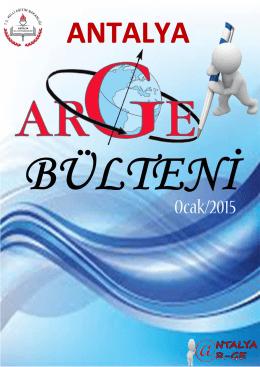 arge 2014/2 bülteni - Antalya Milli Eğitim Müdürlüğü