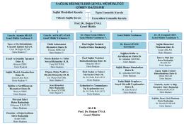 PowerPoint Sunusu - Sağlık Hizmetleri Genel Müdürlüğü