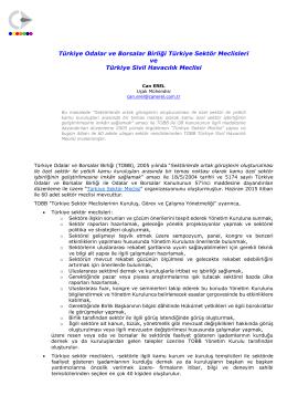 TOBB Türkiye Sektör Meclisleri & Türkiye Sivil Havacılık Meclisi