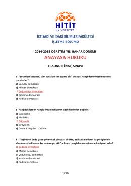 Final Sınavı - veyseldinler.com