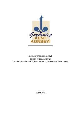 Gaziantep Kent Konseyi 6. Genel Kurul Toplantısı Eğitim Raporu