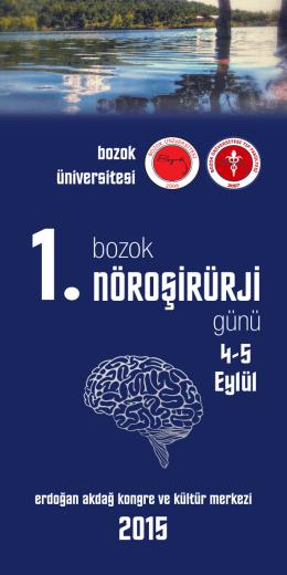 Sempozyum Broşürü için tıklayınız - Bozok Üniversitesi Araştırma ve