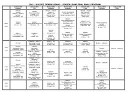 2016 Güz Dönemi Lisans - Yüksek Lisans Final Sınav Programı