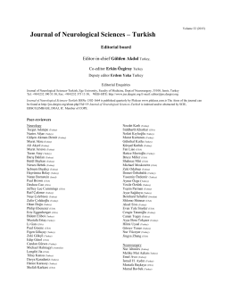 Editorial board & peer-reviewers list for 2015