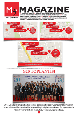 G20 TOPLANTISI