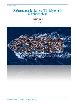 Sığınmacı Krizi ve Türkiye AB Görüşmeleri, Ekim 2015 – T. Saliji
