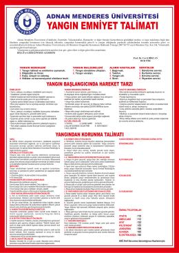 yangın emniyet talimatı - Adnan Menderes Üniversitesi