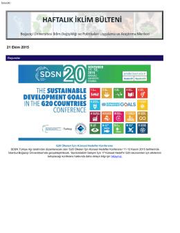 21.10.2015 - İklimBU - Boğaziçi Üniversitesi
